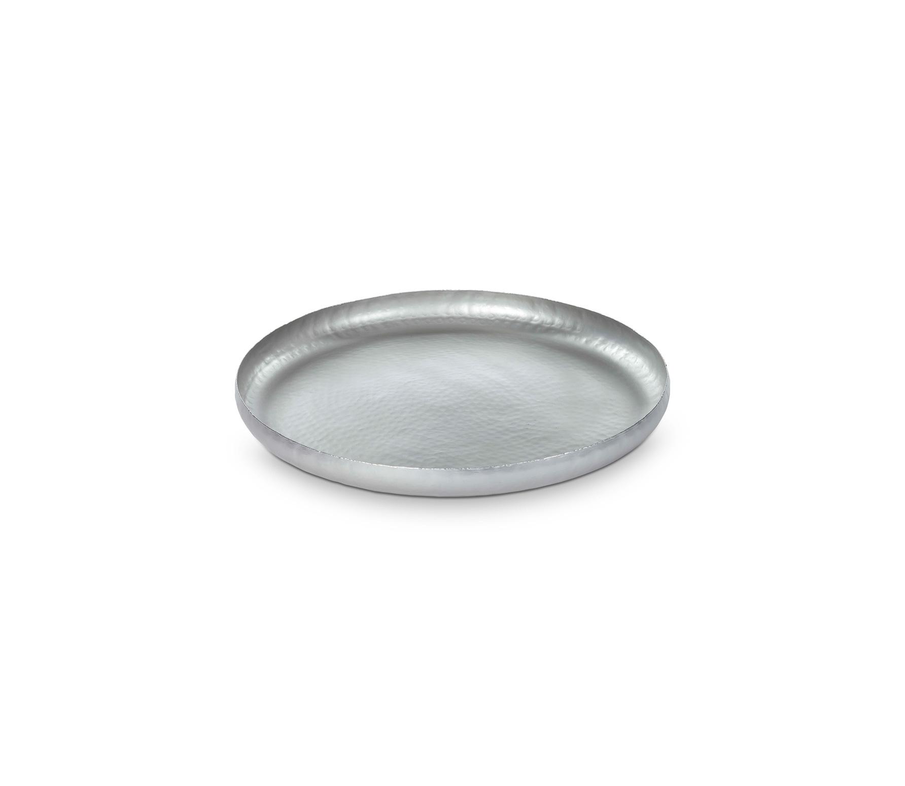 vtwonen dienblad zilver metaal diverse afmetingen Ø 45