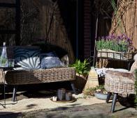 WOOOD Sarah fauteuil (binnen-buiten) naturel  rotan