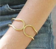 Elle scharnierarmband verguld goud metaal