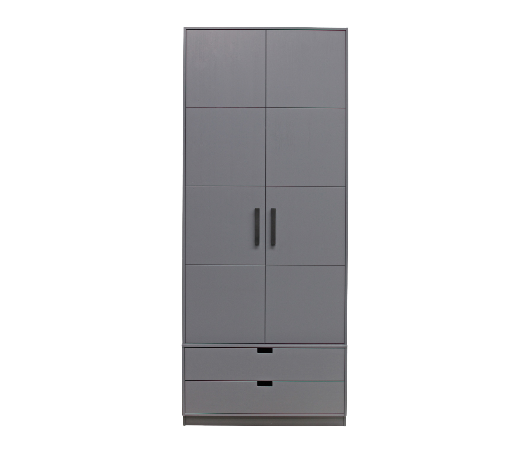 Basiclabel SKIK kast variant 21 leem 231x95x62 cm massief grenen