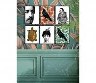 Poster Lady with bug kleur incl. lijst