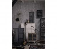 BePureHome Trophy hangende vitrinekast zwart  metaal