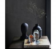 HKLiving Sculptuur No Face zwart  hout