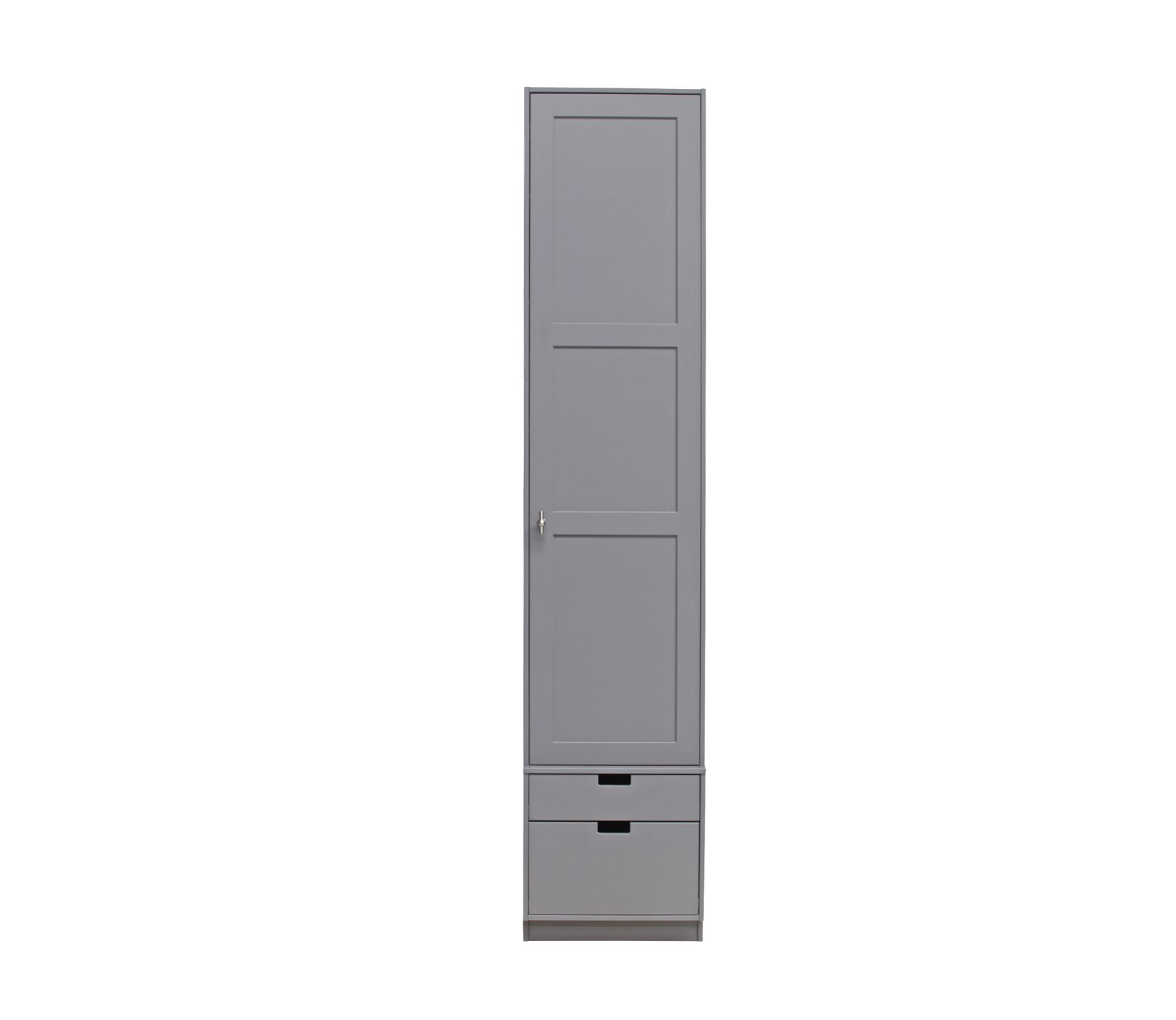 Basiclabel SKIK kast variant 47 (hxbxd) 231x49x62 cm grenen leem Roede met 2 legplanken
