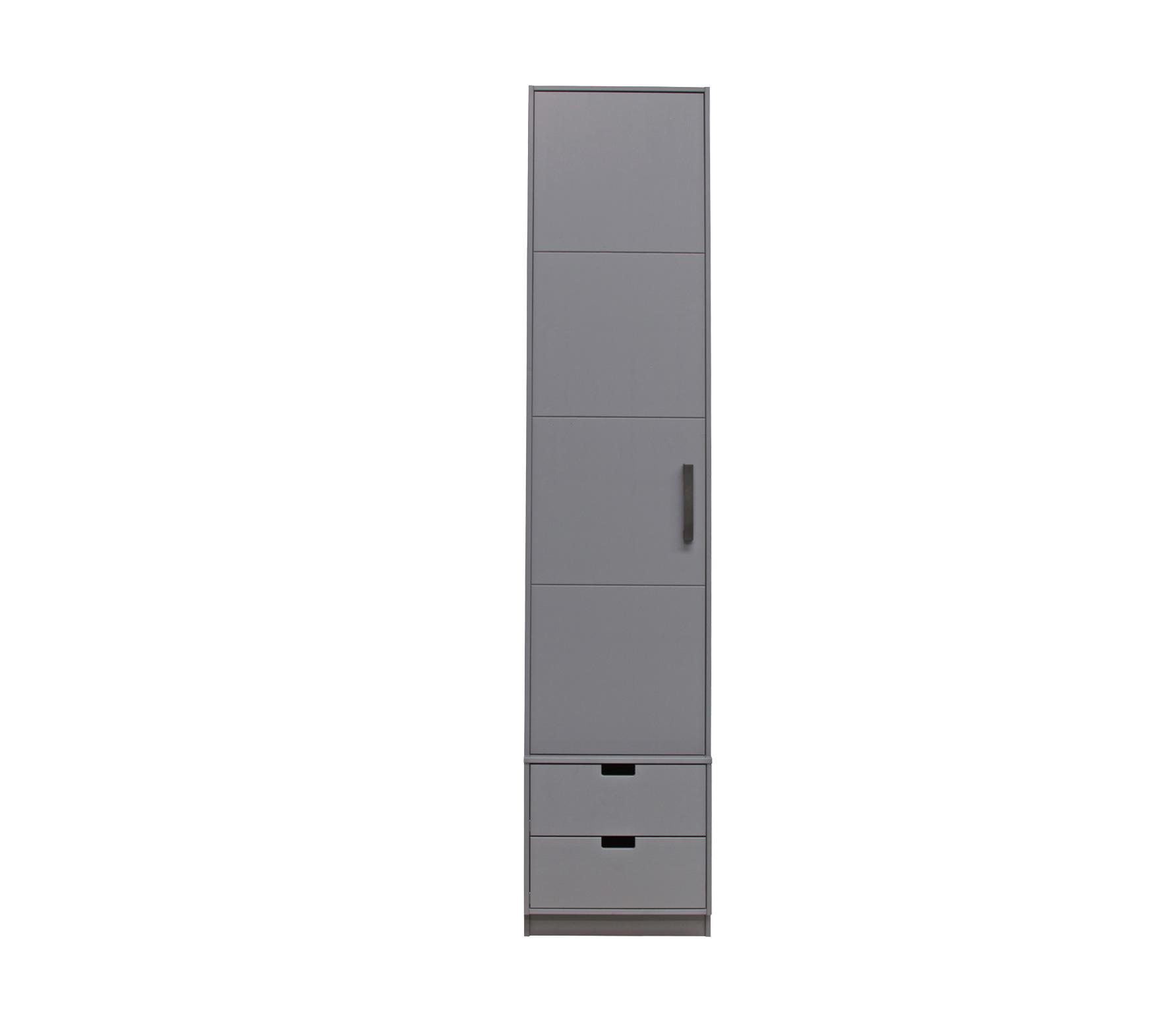 Basiclabel SKIK kast variant 54 (hxbxd) 231x49x62 cm grenen leem Roede met 2 legplanken