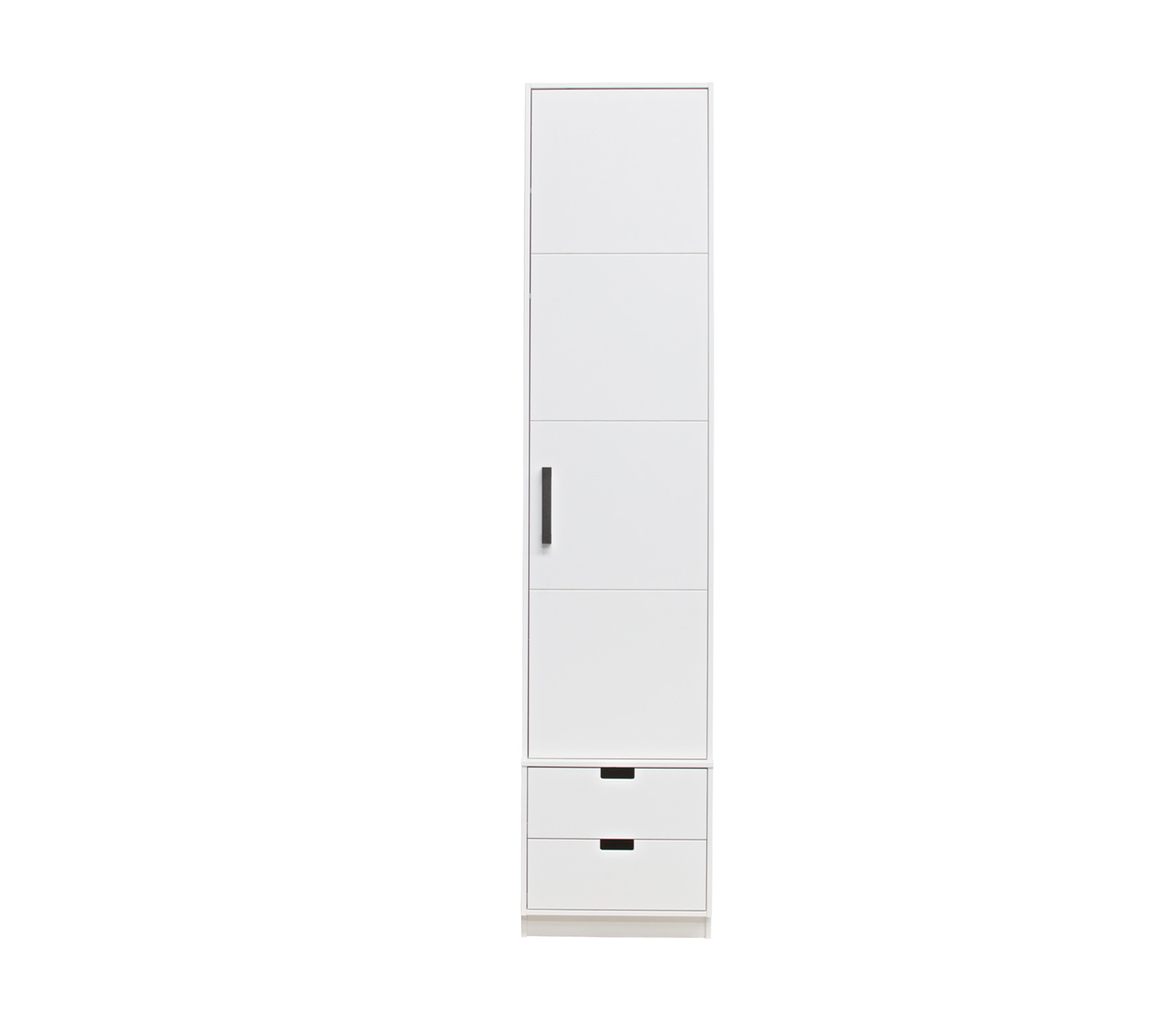 Basiclabel SKIK kast variant 55 (hxbxd) 231x49x62 cm grenen wit Roede met 2 legplanken