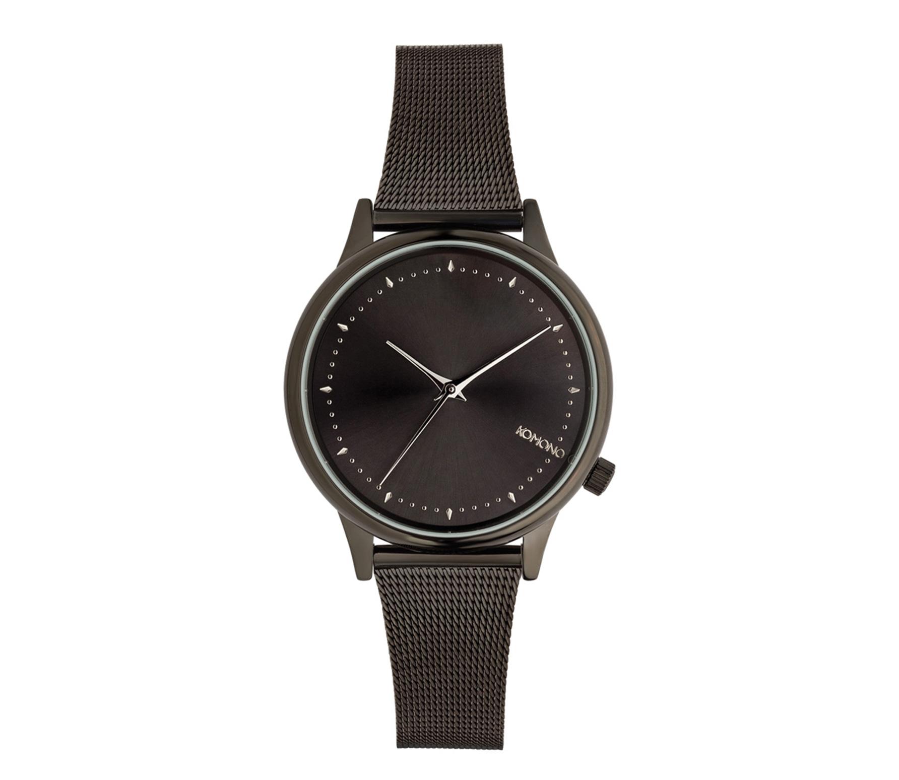 Komono horloge Estelle Royale zwart/zilver stainless steel