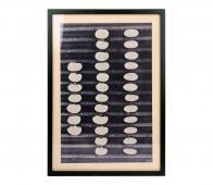HKLiving kunstlijst abstract zwart/wit kunststof