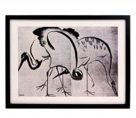 HKLiving kunstlijst met kraanvogels zwart/wit kunststof