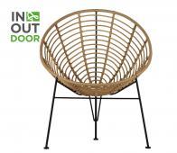 WOOOD Jane (binnen-buiten) stoel naturel  pe/metaal