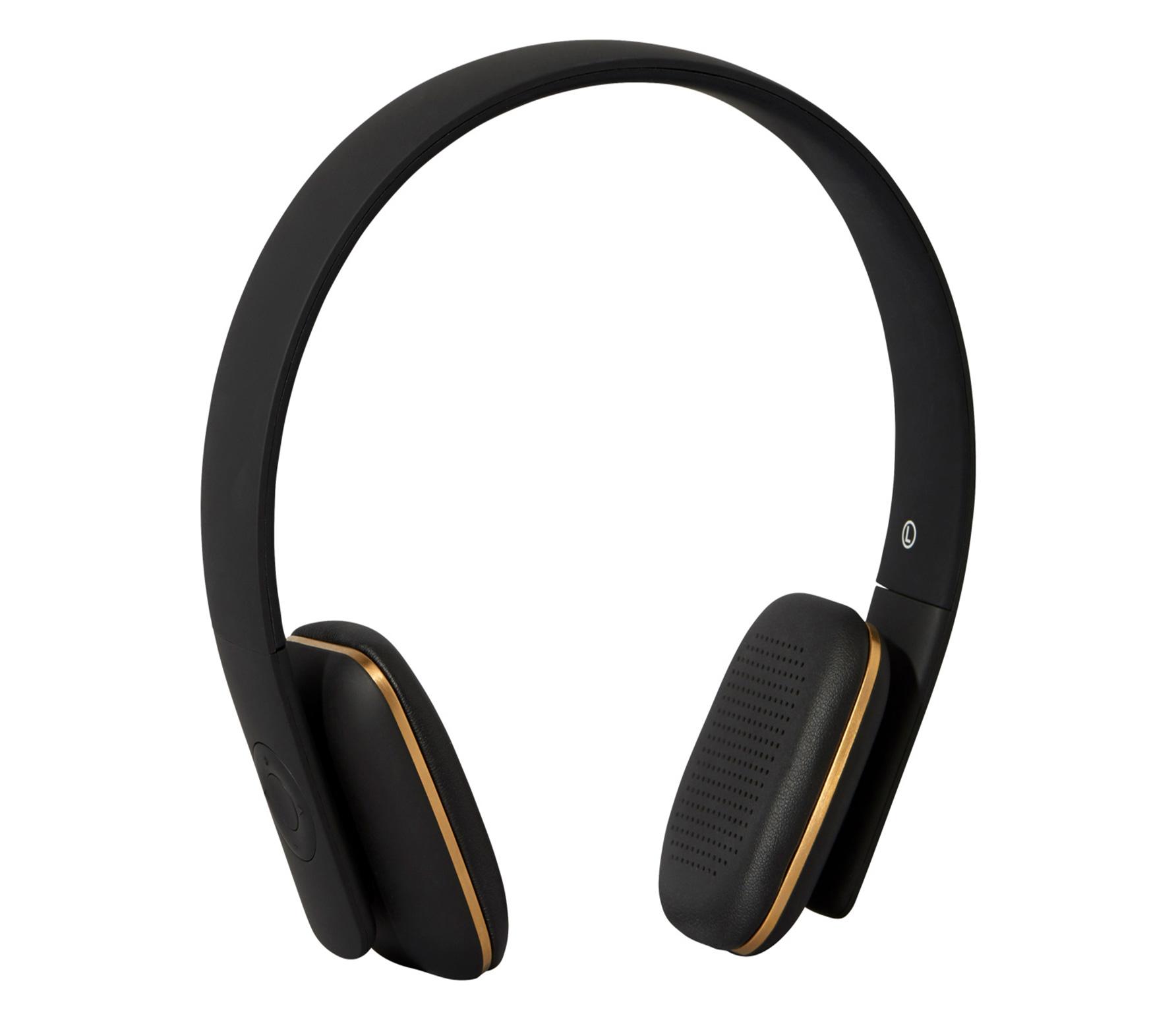 Kreafunk aHead draadloze koptelefoon zwart kunststof