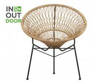 WOOOD Strohoed (binnen-buiten) stoel naturel pe/metaal