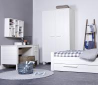 WOOOD Robin bed met logeerbed wit geborsteld grenen Bed excl lade