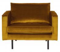 BePureHome Rodeo loveseat 1,5 zits fauteuil oker velvet geel