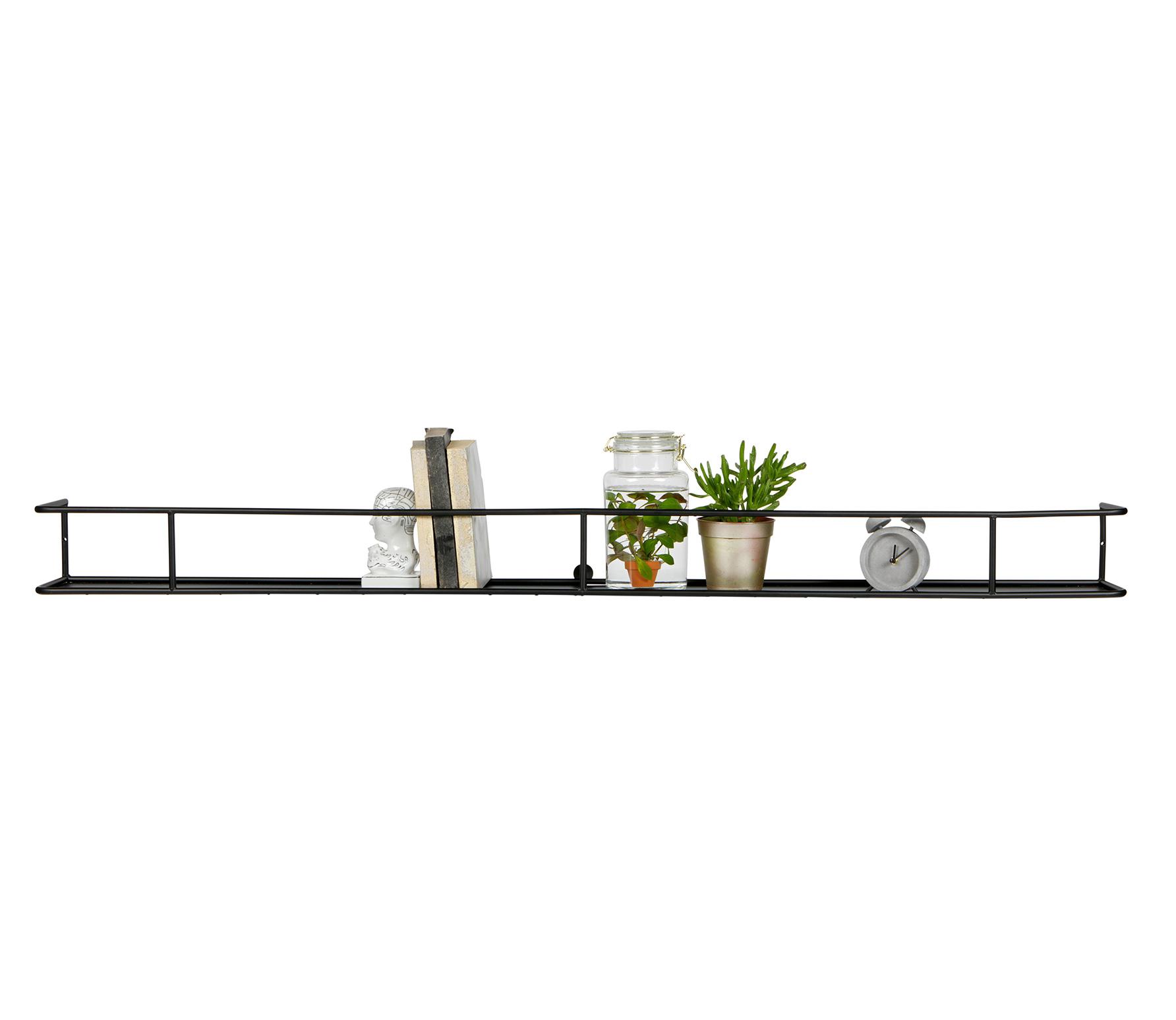 Wandplank Zwart Metaal.Aanbieding Vtwonen Wandplank Metaal 120 Cm Zwart Vtwonen Met Korting
