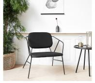 Housedoctor Klever loungestoel zwart  polyester