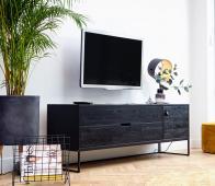 WOOOD Exclusive Silas tv meubel black night  eiken