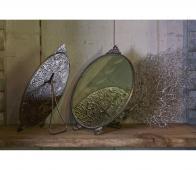 BePureHome Posh spiegel rond antique brass  metaal