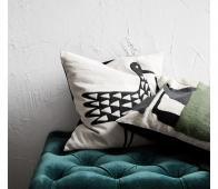 Housedoctor Bird kussen 50x50 cm zwart wit