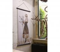 BePureHome Wintertime kerstposter velvet 144x74 cm stof