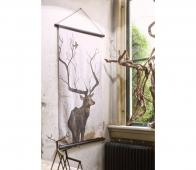 BePureHome O deer kerstposter velvet 144x82 cm velvet