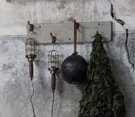 BePureHome Mine looplamp antique brass  metaal/hout