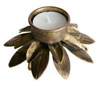 BePureHome Ornament waxinehouder antique brass metaal