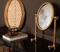 Dutchbone Falcon spiegel brass aluminium