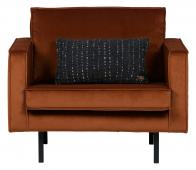 BePureHome Rodeo loveseat 1,5 fauteuil velvet roest Roest