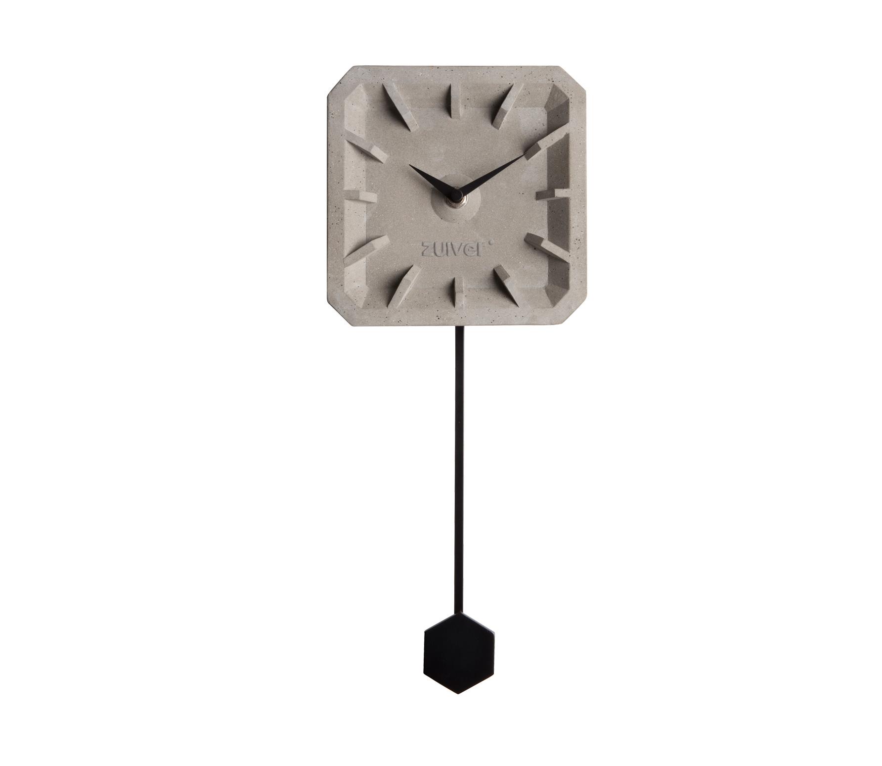 Zuiver wandklok TIKTAK beton met zwart Beton icm zwart