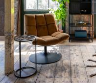 Dutchbone Bar lounge fauteuil velvet goudbruin goudbruin