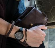Zusss Hip horloge zwart zwart