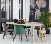 WOOOD Exclusive Lange Jan uitschuifbare eettafel rond sydney massief eiken
