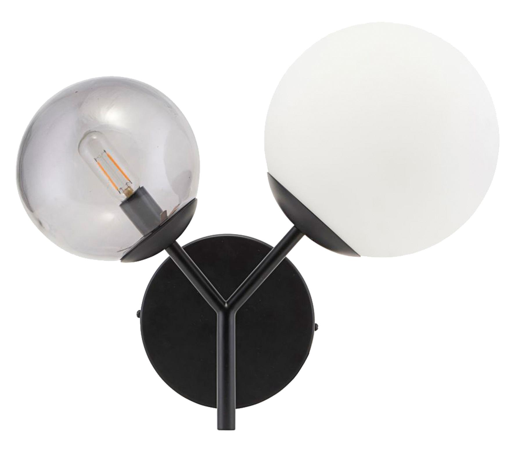 Housedoctor Twice wandlamp zwart glas