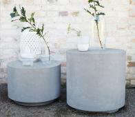 Housedoctor Fifty (binnen-buiten) bijzettafel betonlook ø50 cm grijs